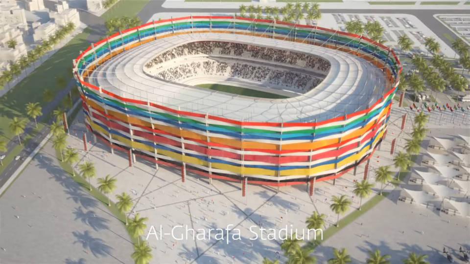 Аль-Гарафа. (Al-Gharafa Stadium), Катар 2022